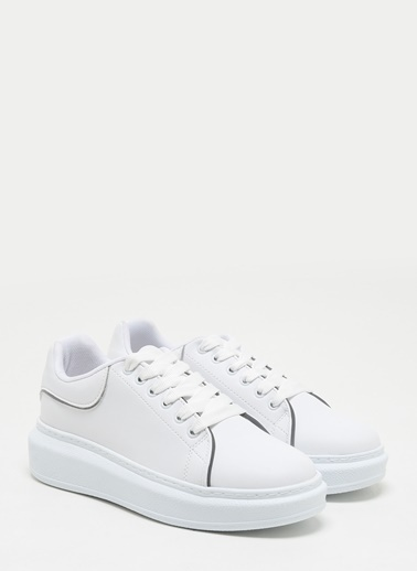 F By Fabrika Kadın Bej Sneakers VENTURA Beyaz